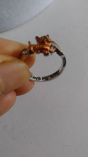 "Size 7 3/4 /17.8mm Fashion stainless steel ""I love my kitty"" ring for Sale in Richmond, CA"
