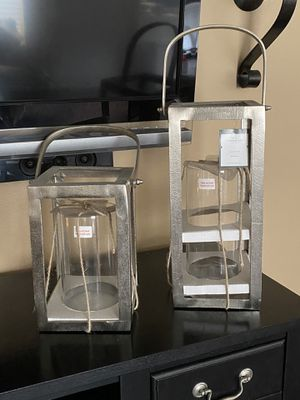 Pottery barn like Metal lanterns - indoor/outdoor - NEW for Sale in HUNTINGTN BCH, CA