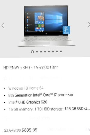 Hp envy notebook for Sale in Cedar Park, TX