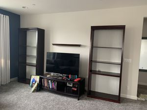 2 bookshelves - solid wood (mahogany stain & white paint) for Sale in Brentwood, CA