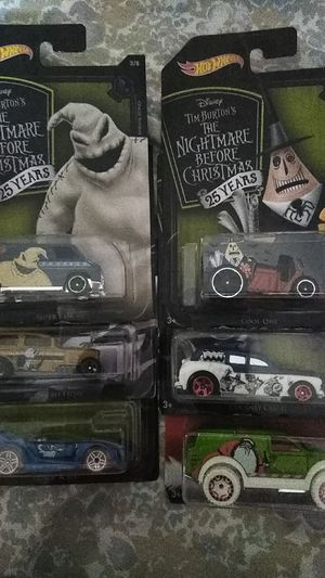 Nightmare Before Christmas 25 Years Hot wheels Collection for Sale in Montebello, CA