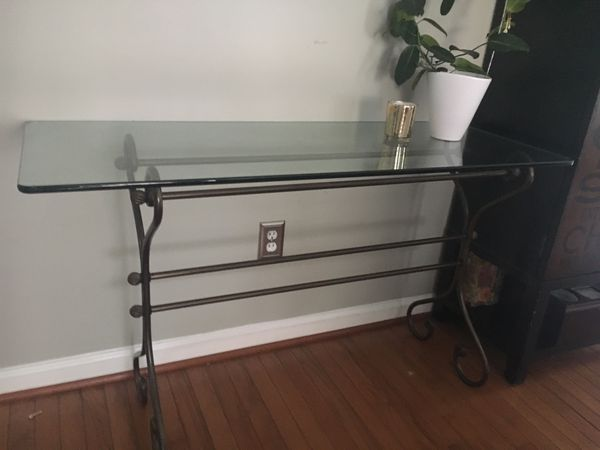 Console glass table