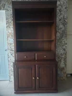 Wooden cabinet/ book shelf for Sale in Las Vegas, NV