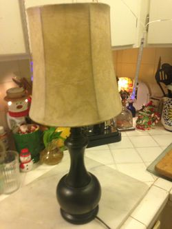 Cute Little Lamp With Faux Leather Shade for Sale in Seattle,  WA