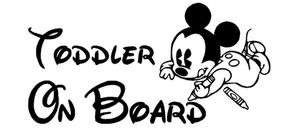 """Toddler on board"" Disney car vinyl decal for Sale in Princeton, FL"
