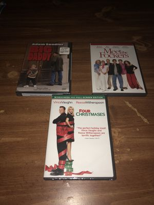 Comedy DVD's Lot of 3 Big Daddy, Four Christmases, Meet The Fockers for Sale in Lorton, VA