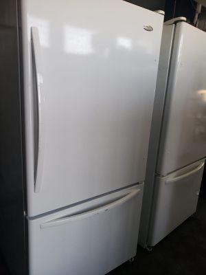 On Sale Whirlpool Refrigerator Fridge White Bottom Freezer #832 for Sale in Ontario, CA