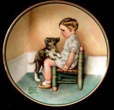 Bessie Pease Gutmann-Sympathy plate
