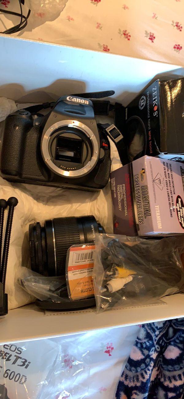 Canon rebel T3i + lenses