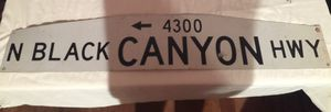 Black Canyon Hwy Street sign for Sale in Wenatchee, WA