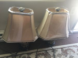 Two brand new vintage lamps with brand new lamp shades (AWESOME DEAL) 50 for both for Sale in San Francisco, CA