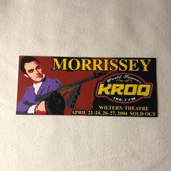 Morrissey KROQ Sticker for Sale in Long Beach,  CA
