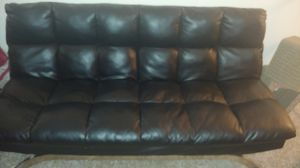 Leather futon set $100 or best offer must go ASAP for Sale in Lakewood, CO