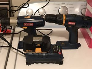 2 Ryobi 18v Drills with charger and 2 batteries for Sale in Old Bridge Township, NJ