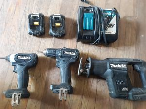 Makita Impact, Drill, Sawsall, 2 batteries and charger for Sale in Tyler, TX
