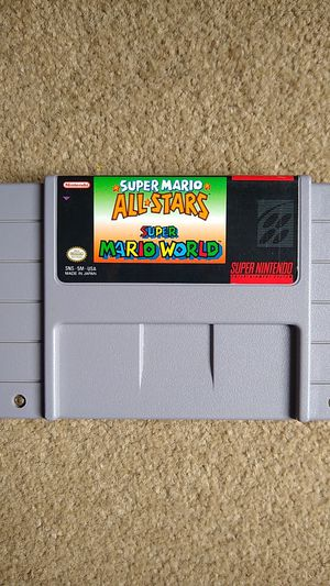 Super Mario All Stars and World Super Nintendo (SNES) Authentic for Sale in Lynnwood, WA
