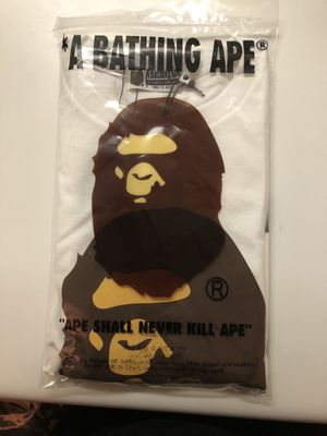 OVO x BAPE XXL White Tee in hand for Sale in New York, NY