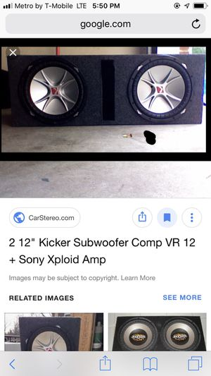 2-12 inch Kicker CVR Dual voice coil subs in a ported box for Sale in Lawrence, IN