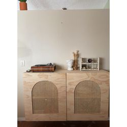 Custom Cane Wicker Cubbhard Shelves Storage Cabinet for Sale in Colorado Springs,  CO