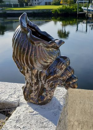Giant Shell planter or put shells in it beach tropical for Sale in NEW PRT RCHY, FL