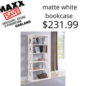 Matte white bookcase for Sale in Garland, TX