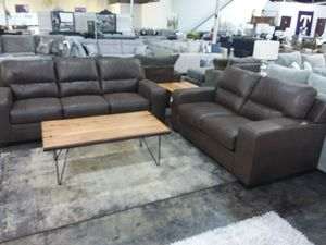 MODERN CHOCOLATE SOFA AND LOVESEAT SET for Sale in Arlington, TX