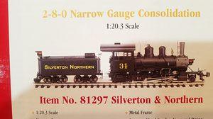 "32"" long Bachmann Spectrum master railroaded train 81297 Silver Northern 2-8-0 gauge for Sale in Modesto, CA"