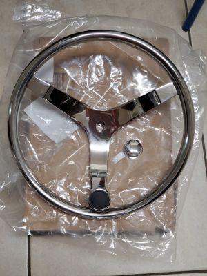 Boat steering wheel, 3 spoke, stainless steel for Sale in Hialeah Gardens, FL