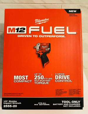"""Milwaukee 2555-20 M12 FUEL Stubby 1/2"""" Impact Wrench - NEW Tool In Box NIB for Sale in Downey, CA"""