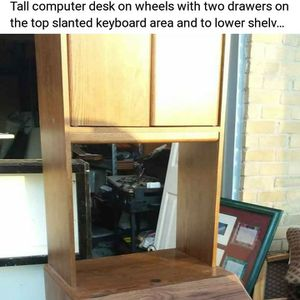 Tall Wooden Computer Desk for Sale in Plano, TX