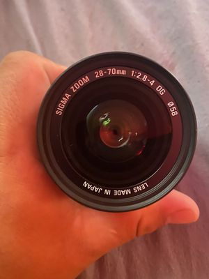 Sigma Zoom 28-70mm f2.8-4 ef mount dg lens for Sale in Playa del Rey, CA