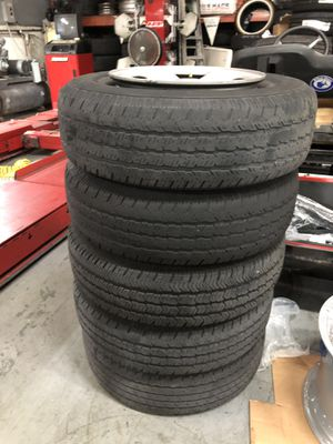 Jeep Wrangler wheels and tires 15inch for Sale in Doral, FL