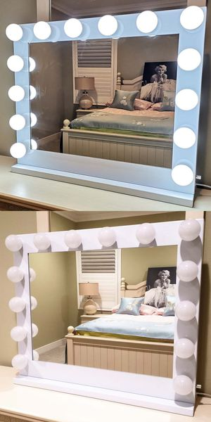 Hollywood XL Dimmable LED Vanity Makeup Mirror Dual Outlet for Sale in Alhambra, CA