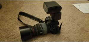 Nikon SLR camera Packaged Deal with upgraded lens, external flash, nikon travel bag for Sale in San Jose, CA