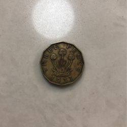 1937 Three Pence Coin for Sale in Vancouver,  WA