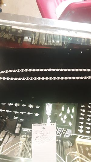925 gucci link ice out silver chain for Sale in Phoenix, AZ