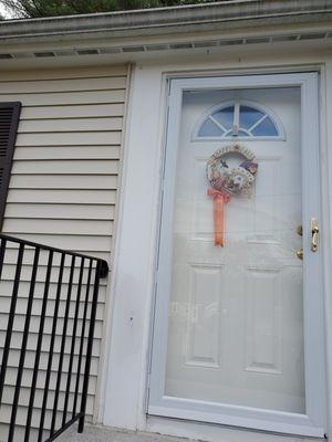 Storm door with brass Anderson handle for Sale in Wilmington, MA