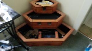 Indoor or outdoor teak wood water fountain with fog and lights for Sale in Feasterville-Trevose, PA