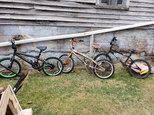 BMX Bikes the ones on the ends are $35 EACH and the one in the middle is $45 for Sale in Covington, VA