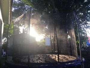 Trampoline with basketball hoop for Sale in Miami, FL