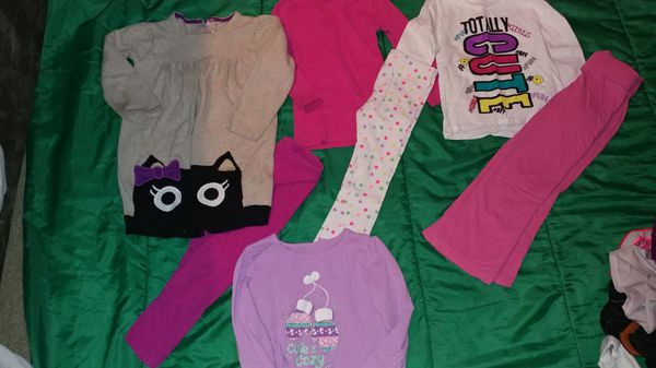 60 pieces of kids clothing sizes 3 to 18