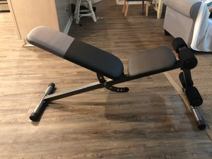 Used once fully built workout bench brand new (bought 4 days ago) for Sale in Beaufort, SC