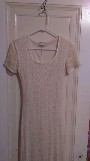 Long Laced White Dress for Sale in Grosse Pointe Park, MI