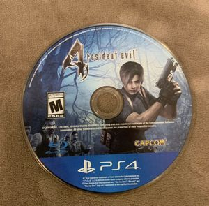 Resident Evil 4 PS4 with no case for Sale in Las Vegas, NV
