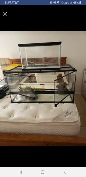 40 terrarium with uvb bulbs and fixture for Sale in Royal Palm Beach, FL