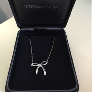 Tiffany's Necklace. Silver Bow. $60 for Sale in Pala, CA