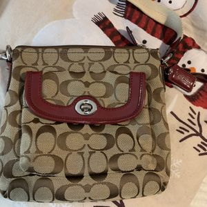 Small Coach Logo Crossbody Bag With Cotton Strap for Sale in Lexington, SC