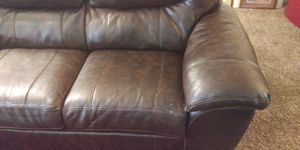 Brown leather couch and love seat for Sale in Wichita, KS