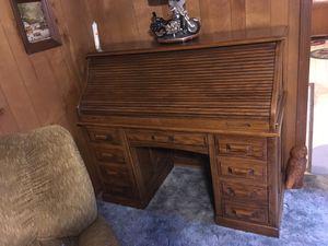 Oak Roll Top Desk for Sale in Greensboro, NC