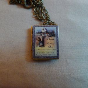 Alice thru the Looking Glass Book Locket for Sale in San Jose, CA